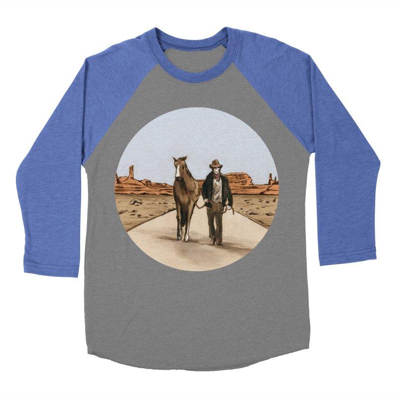 Death Americana Men's Baseball Triblend Longsleeve T-Shirt by Zombie Rust's Artist Shop