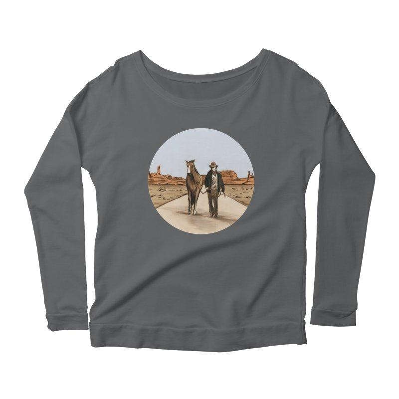 Death Americana Women's Scoop Neck Longsleeve T-Shirt by Zombie Rust's Artist Shop