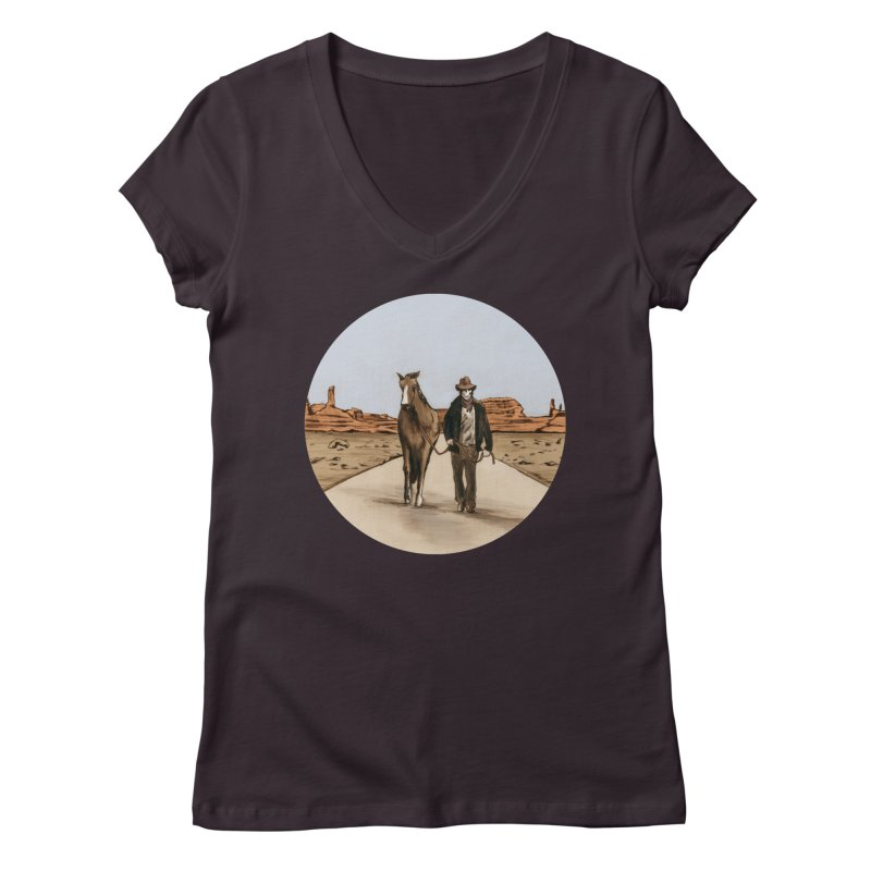 Death Americana Women's V-Neck by Zombie Rust's Artist Shop