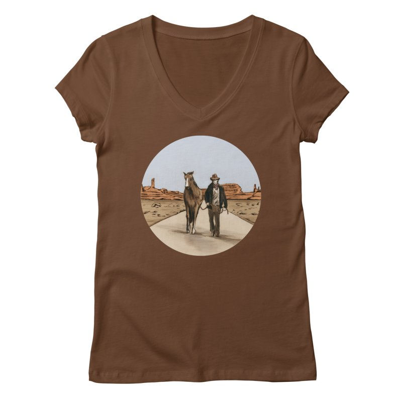 Death Americana Women's V-Neck by Zombie Rust's Artist Shop