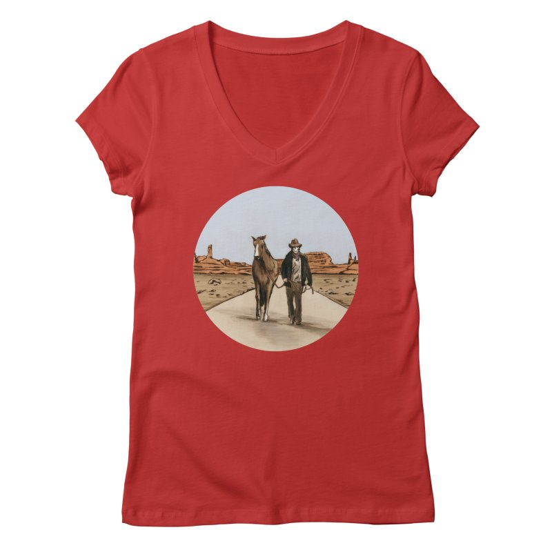 Death Americana Women's Regular V-Neck by Zombie Rust's Artist Shop