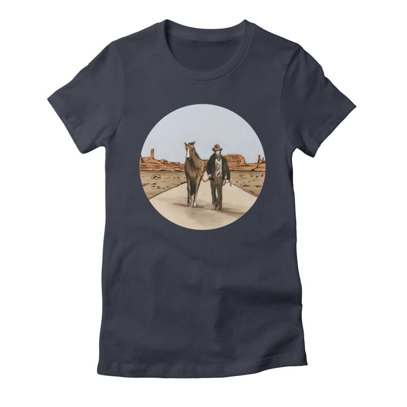 Death Americana Women's Fitted T-Shirt by Zombie Rust's Artist Shop