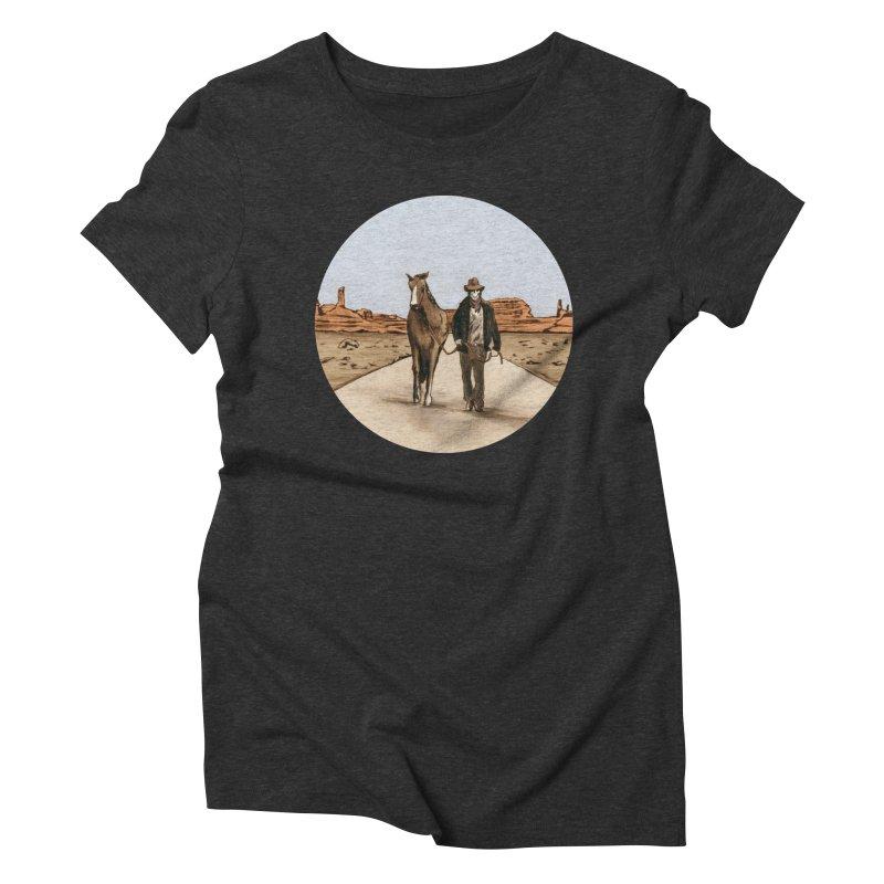 Death Americana Women's Triblend T-Shirt by Zombie Rust's Artist Shop