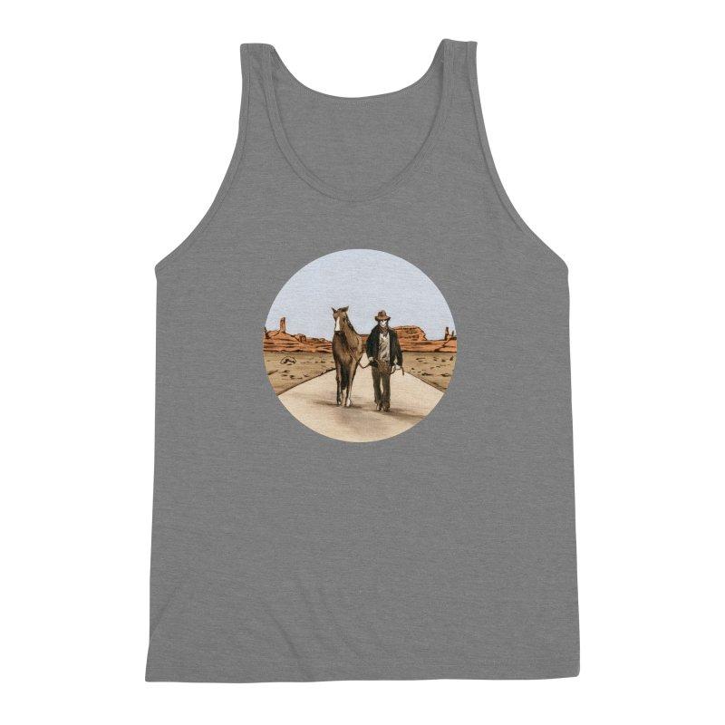 Death Americana Men's Triblend Tank by Zombie Rust's Artist Shop