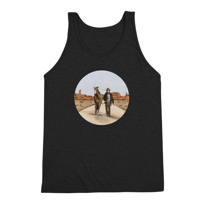 Death Americana Men's Triblend Tank by Zombie Rust's Artist Shop