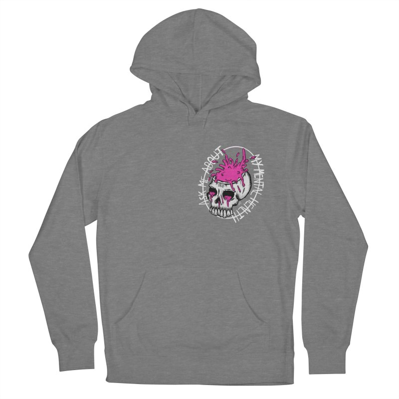 Ask me about my mental health Men's French Terry Pullover Hoody by ZOMBIETEETH
