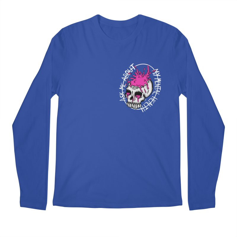 Ask me about my mental health Men's Regular Longsleeve T-Shirt by ZOMBIETEETH