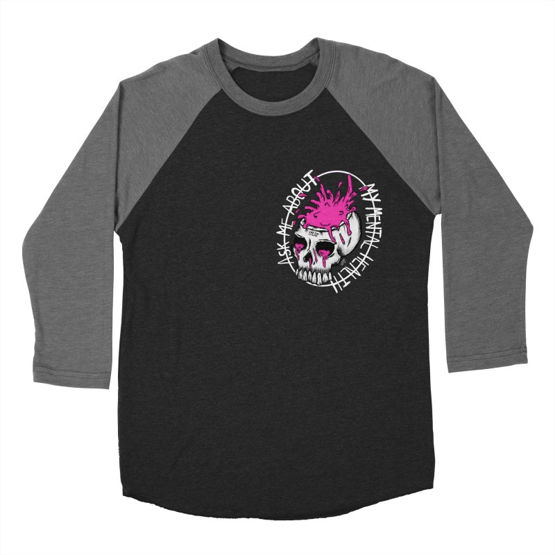 Ask me about my mental health Women's Baseball Triblend Longsleeve T-Shirt by ZOMBIETEETH