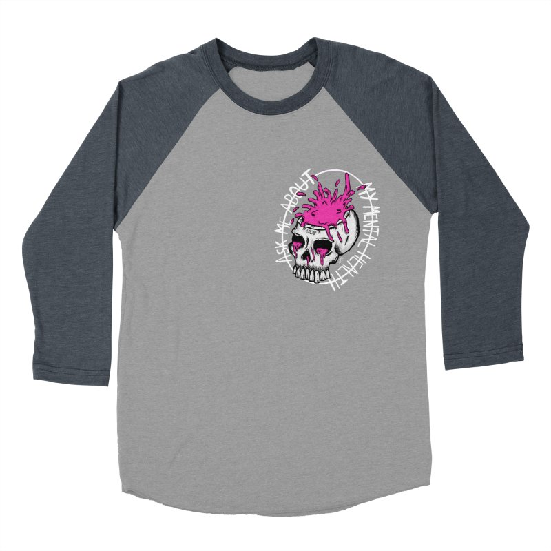 Ask me about my mental health Men's Baseball Triblend Longsleeve T-Shirt by ZOMBIETEETH