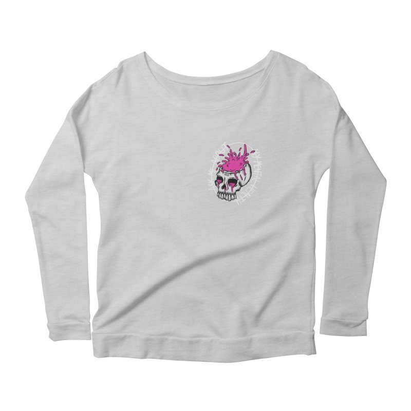 Ask me about my mental health Women's Scoop Neck Longsleeve T-Shirt by ZOMBIETEETH