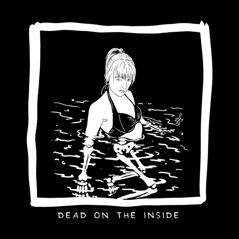 Dead on the inside Home Shower Curtain by ZOMBIETEETH