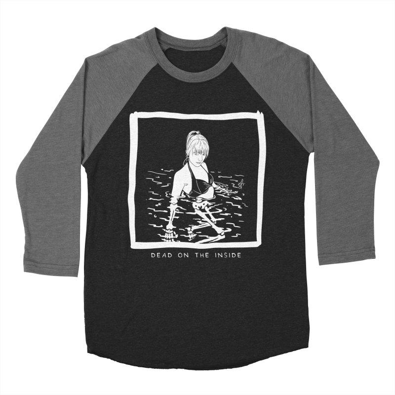 Dead on the inside Men's Baseball Triblend Longsleeve T-Shirt by ZOMBIETEETH