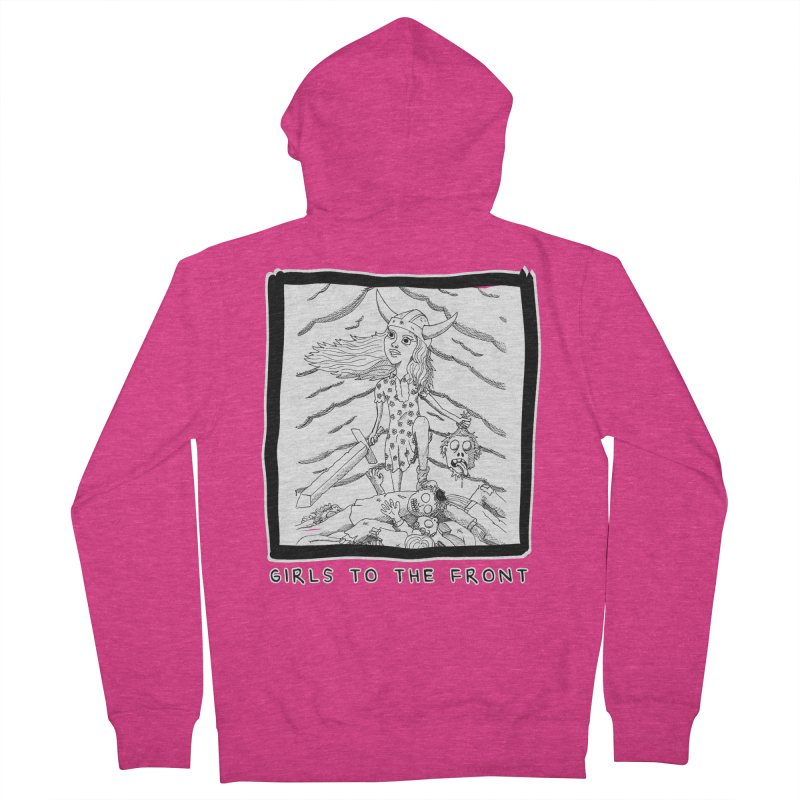 Girls to the front Women's French Terry Zip-Up Hoody by ZOMBIETEETH