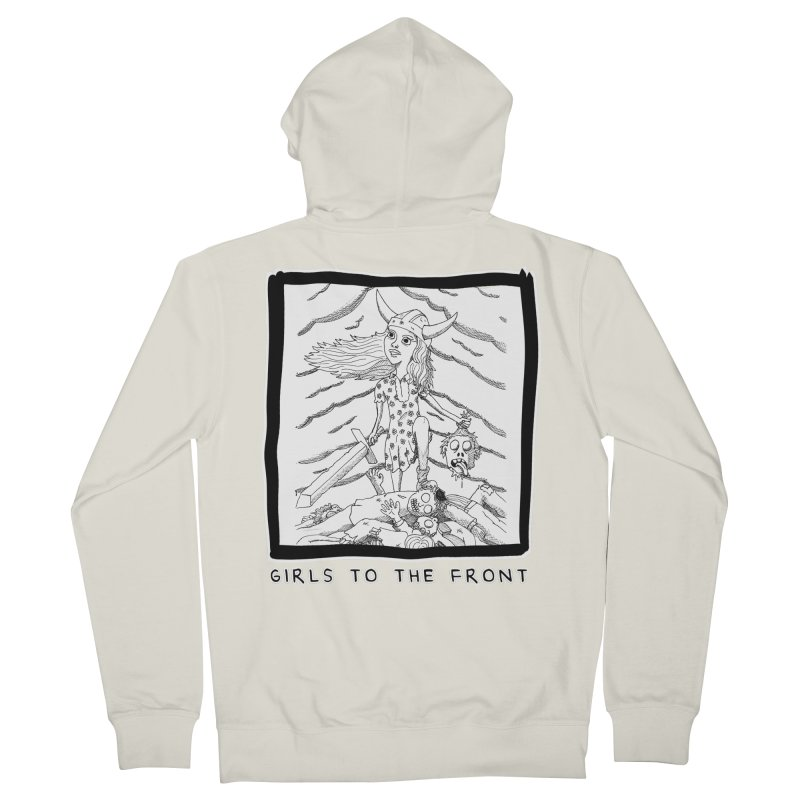 Girls to the front Men's French Terry Zip-Up Hoody by ZOMBIETEETH