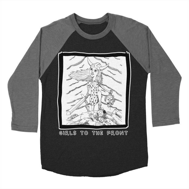 Girls to the front Men's Baseball Triblend Longsleeve T-Shirt by ZOMBIETEETH