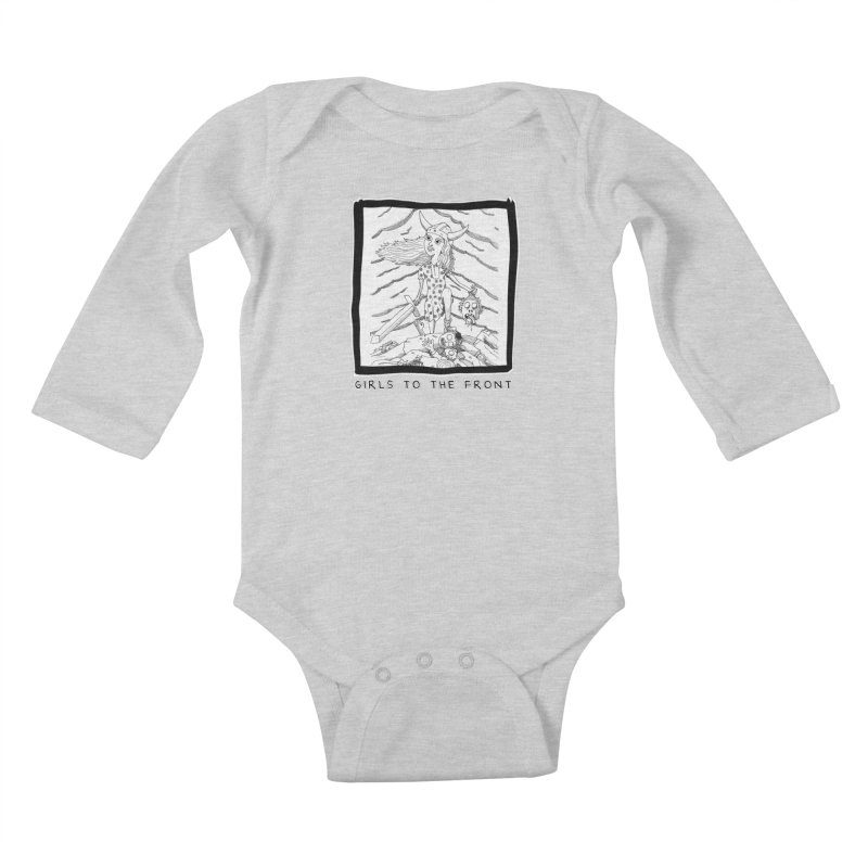 Girls to the front Kids Baby Longsleeve Bodysuit by ZOMBIETEETH