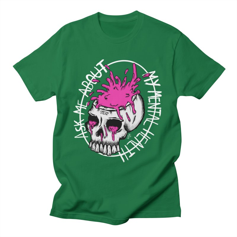 Ask me about my mental health (full size) Men's T-Shirt by ZOMBIETEETH
