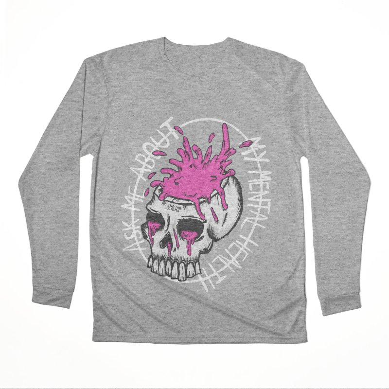 Ask me about my mental health (full size) Men's Performance Longsleeve T-Shirt by ZOMBIETEETH