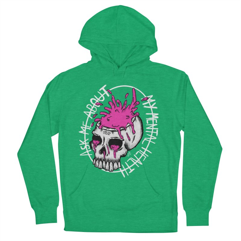 Ask me about my mental health (full size) Men's French Terry Pullover Hoody by ZOMBIETEETH