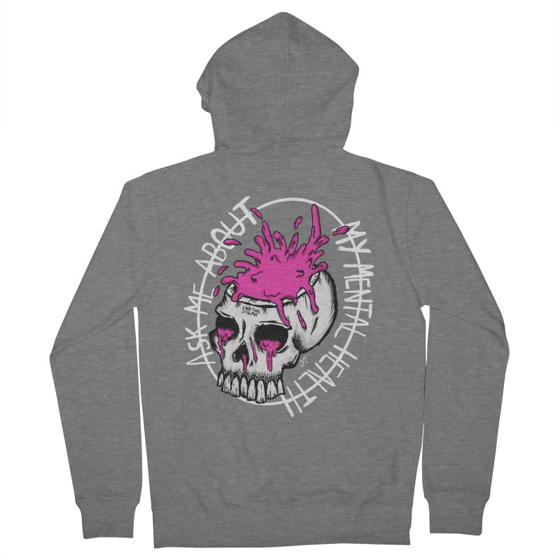 Ask me about my mental health (full size) Women's French Terry Zip-Up Hoody by ZOMBIETEETH