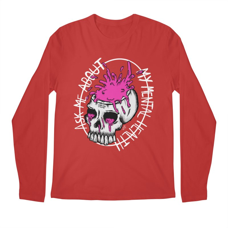 Ask me about my mental health (full size) Men's Regular Longsleeve T-Shirt by ZOMBIETEETH