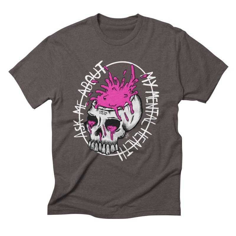 Ask me about my mental health (full size) Men's Triblend T-Shirt by ZOMBIETEETH