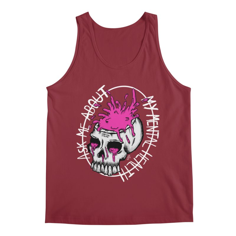 Ask me about my mental health (full size) Men's Tank by ZOMBIETEETH
