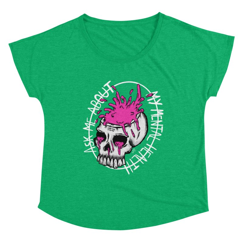 Ask me about my mental health (full size) Women's Scoop Neck by ZOMBIETEETH