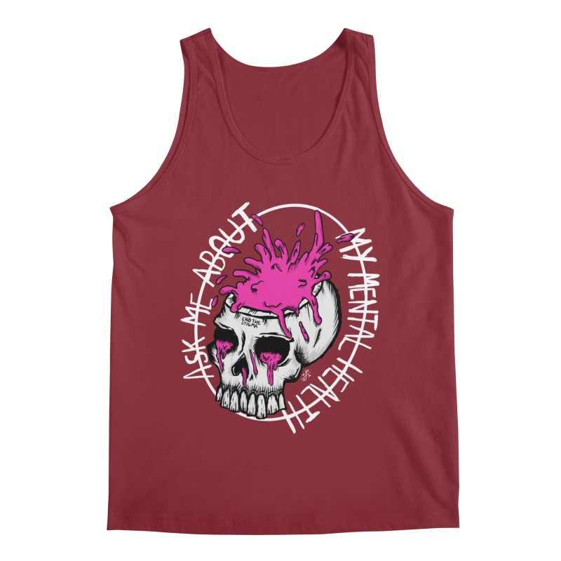 Ask me about my mental health (full size) Men's Regular Tank by ZOMBIETEETH