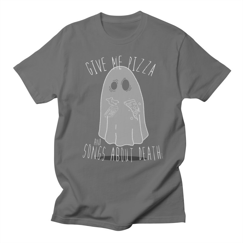 Give me Pizza and songs about death Men's T-Shirt by ZOMBIETEETH