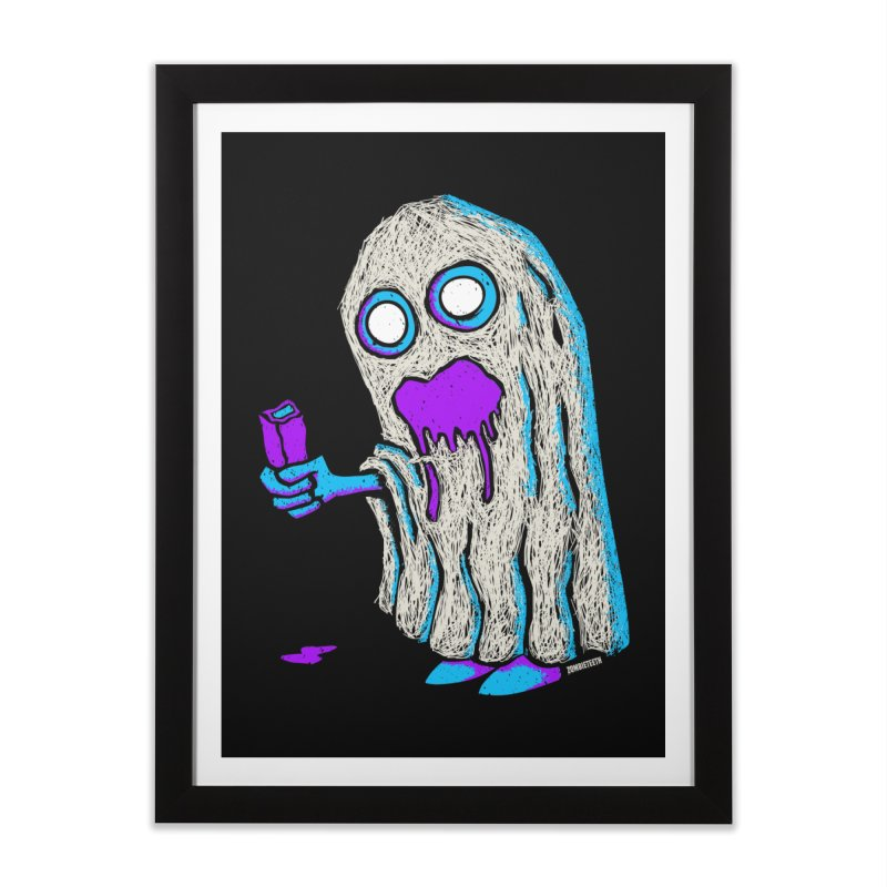Trick or Treat Home Framed Fine Art Print by ZOMBIETEETH