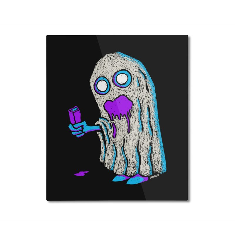 Trick or Treat Home Mounted Aluminum Print by ZOMBIETEETH