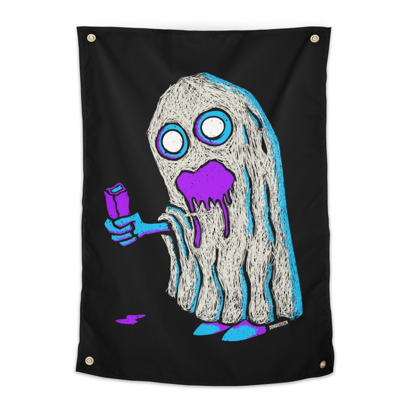 Trick or Treat Home Tapestry by ZOMBIETEETH