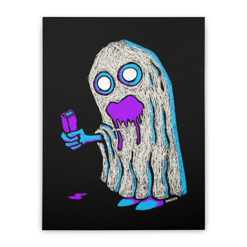 Trick or Treat Home Stretched Canvas by ZOMBIETEETH
