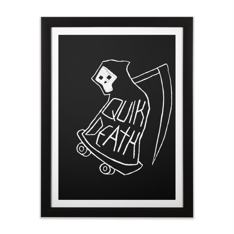 Quik Death Home Framed Fine Art Print by ZOMBIETEETH