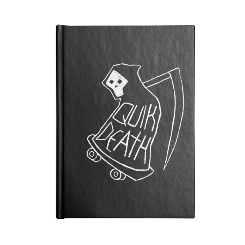 Quik Death Accessories Blank Journal Notebook by ZOMBIETEETH