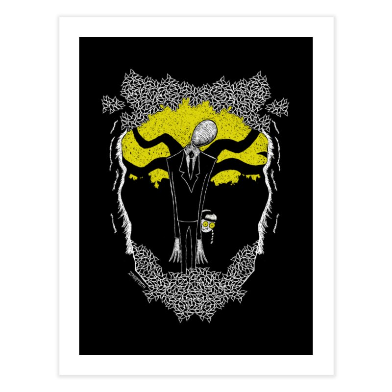 Slender Man Home Fine Art Print by ZOMBIETEETH