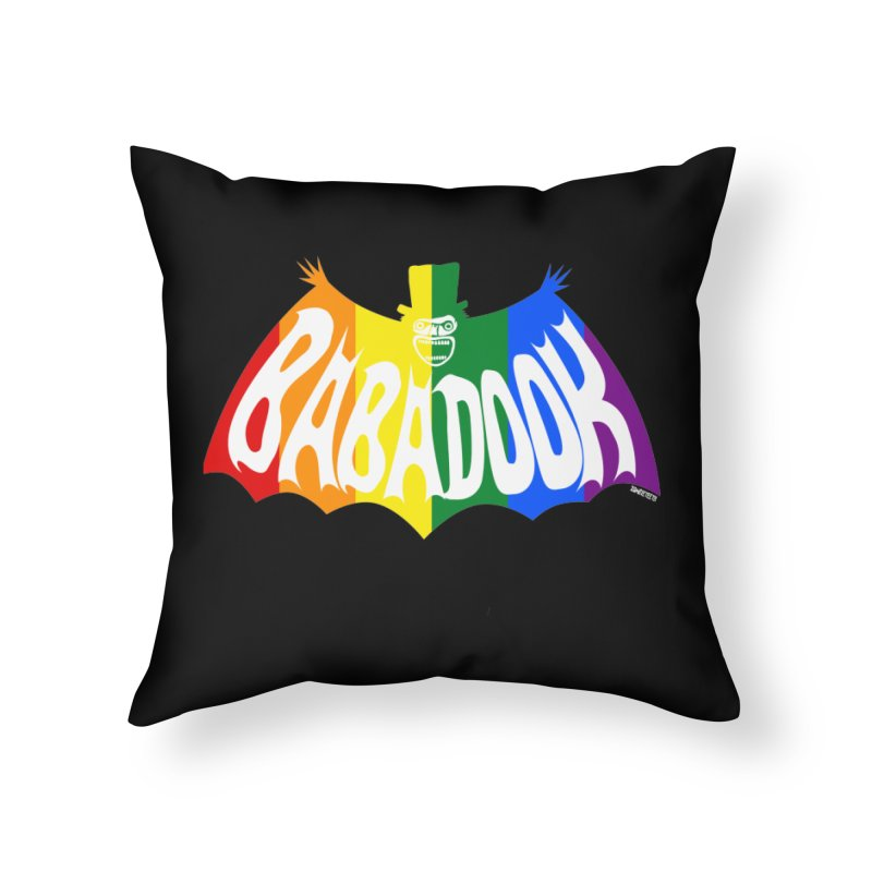 Babadook PRIDE Home Throw Pillow by ZOMBIETEETH