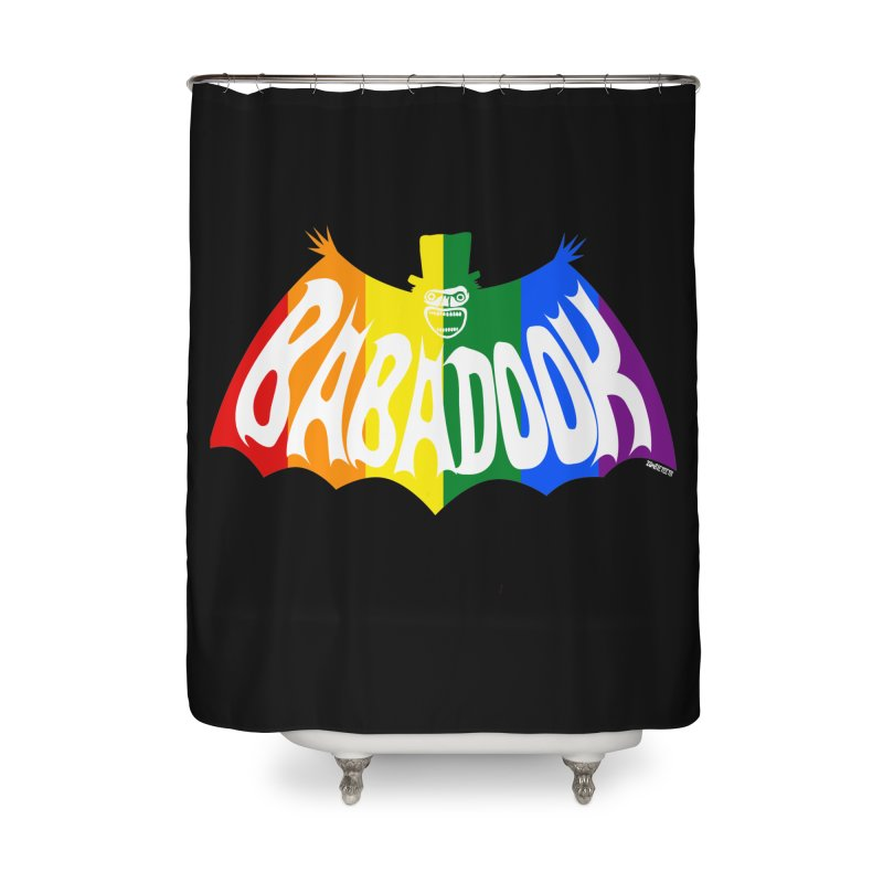 Babadook PRIDE Home Shower Curtain by ZOMBIETEETH