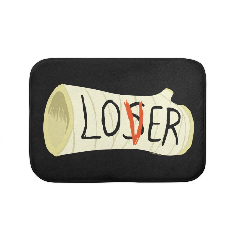 Loser Home Bath Mat by ZOMBIETEETH