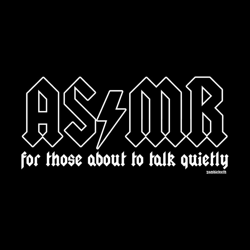 ASMR for those about to talk quietly  Home Fine Art Print by ZOMBIETEETH