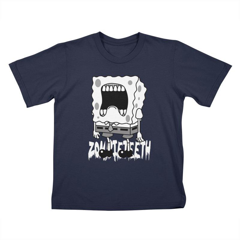 Spongegob Kids T-Shirt by ZOMBIETEETH
