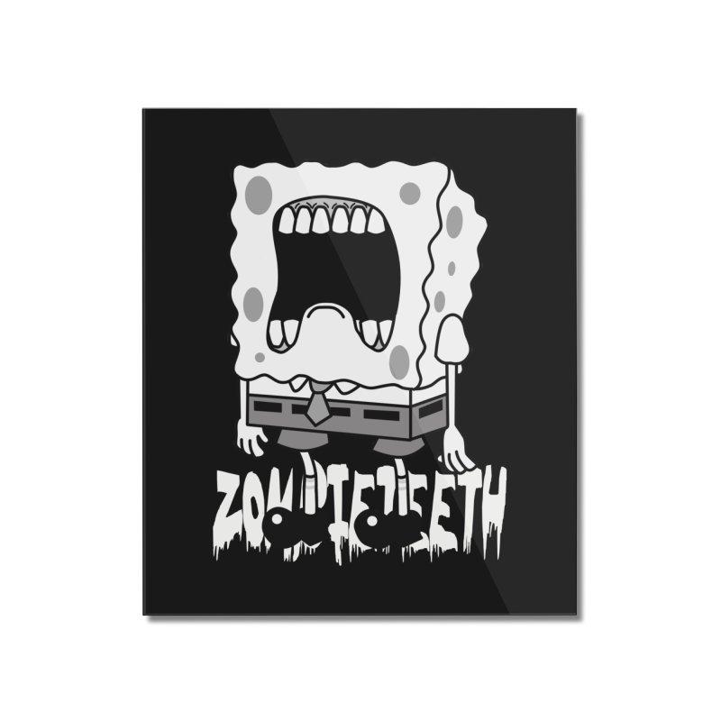 Spongegob Home Mounted Acrylic Print by ZOMBIETEETH