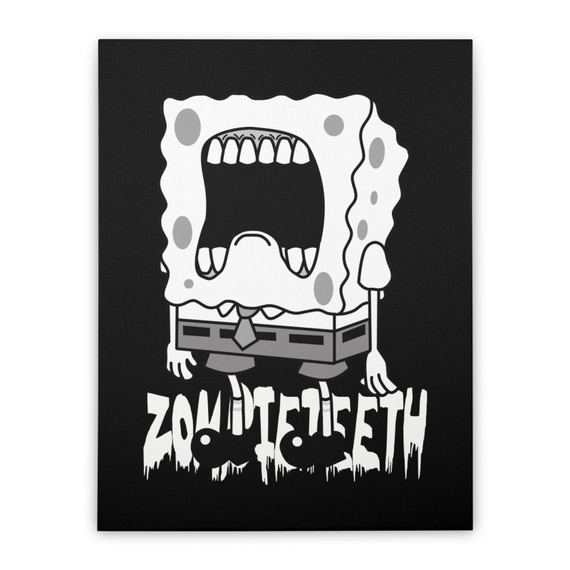 Spongegob Home Stretched Canvas by ZOMBIETEETH