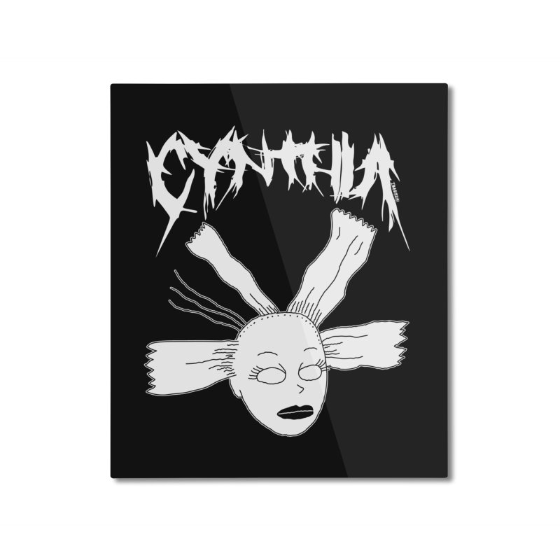 Cynthia Home Mounted Aluminum Print by ZOMBIETEETH
