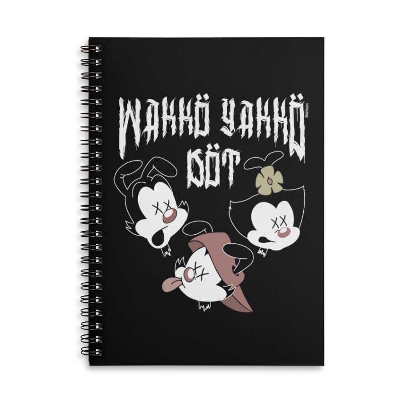 Wakko Yakko Dot Accessories Lined Spiral Notebook by ZOMBIETEETH