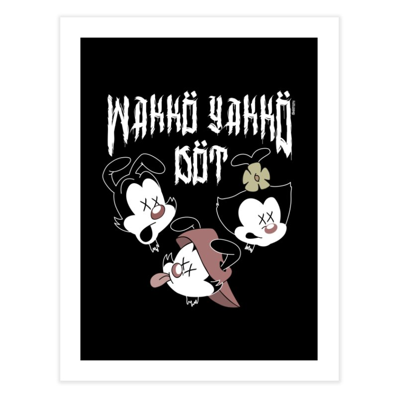 Wakko Yakko Dot Home Fine Art Print by ZOMBIETEETH