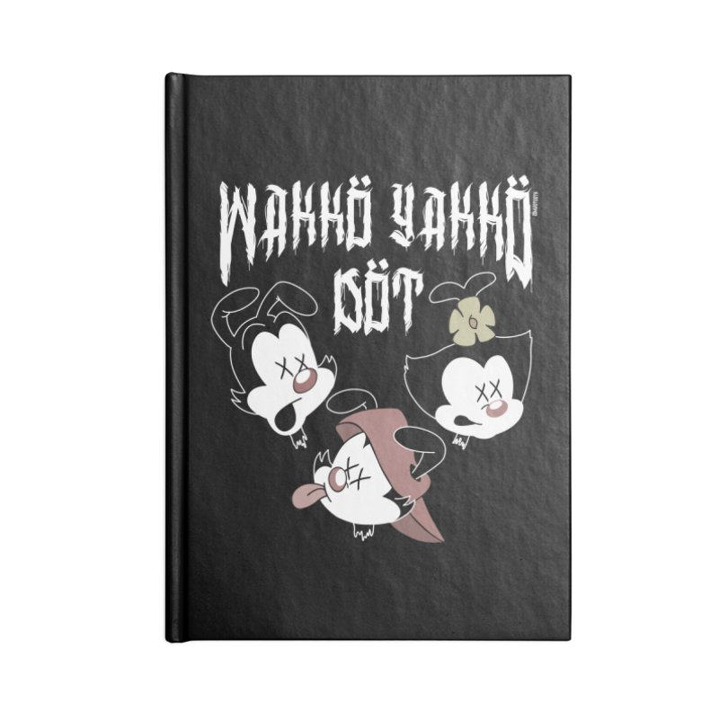 Wakko Yakko Dot Accessories Lined Journal Notebook by ZOMBIETEETH