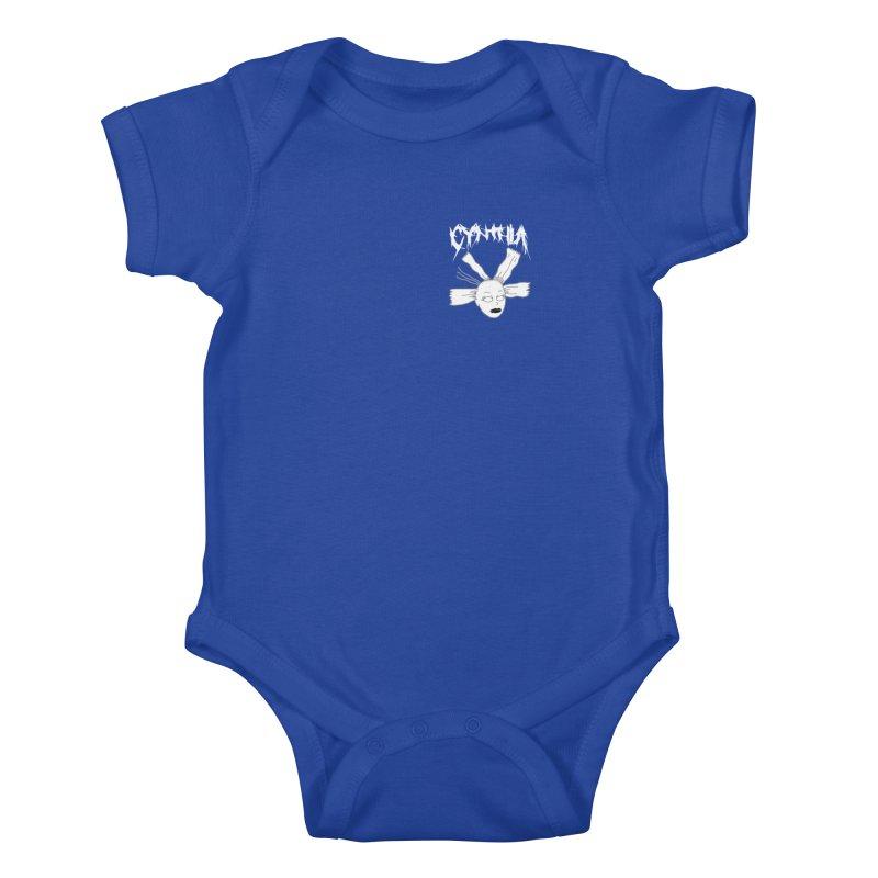 Cynthia chest print Kids Baby Bodysuit by ZOMBIETEETH