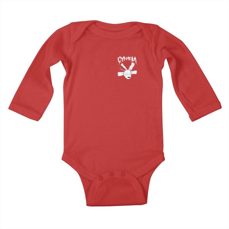 Cynthia chest print Kids Baby Longsleeve Bodysuit by ZOMBIETEETH